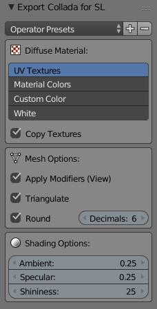 Collada Exporter for Second Life - Blender Addon | MeshLogic